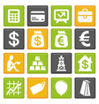 set with business and finance icons vector image