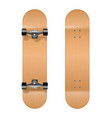 skateboarding realistic 3d wooden blank vector image vector image