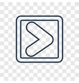 skip track concept linear icon isolated on vector image vector image