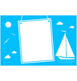 summer sea vacation poster card vector image vector image