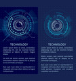 technology banner with two interface patterns vector image vector image