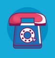 telephone retro technology icon vector image
