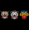 tiger decoration vector image vector image