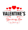 valentines day february 14 promotional poster vector image vector image
