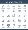 wave icons vector image vector image