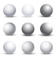 White 3D spheres with shadows set vector image