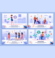 woman life in pregnancy flat banners set vector image vector image