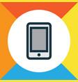 smartphone colorful outline symbol premium vector image