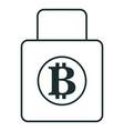 padlock with bitcoin symbol vector image