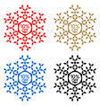 10 off discount sticker snowflake 10 off sale vector image