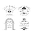 Royal Elements Set Labels Crown Castle Knight s vector image