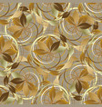 abstract gold autumn 3d seamless pattern vector image