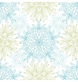 Abstract plants mandalas seamless pattern vector image