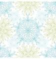 Abstract plants mandalas seamless pattern vector image vector image