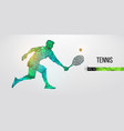 abstract silhouette tennis player man vector image
