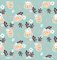 autumn beautiful chic seamless pattern with vector image