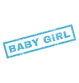 Baby Girl Rubber Stamp vector image vector image