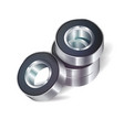 bearings on white background vector image vector image