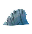 big cartoon rocky cliff rock stone vector image