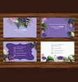 businesscard template with beautiful flowers in vector image