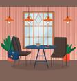 cafe or restaurant interior modern cafeteria diner vector image