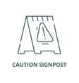 caution signpost line icon linear concept vector image