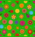 ccolorful pattern with abstract flowers floral vector image vector image