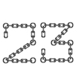 chain numbers 23 vector image vector image