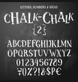 chalk latin alphabet vector image