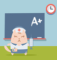 Character nurse in uniform with a medical cap vector image vector image
