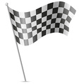 checkered flag for car racing 01 vector image vector image