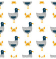childish pattern with seagulls vector image