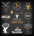 christmas design elements minimal vector image vector image