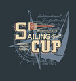 classic vintage yacht racing sailing regatta vector image vector image