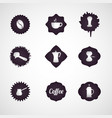 coffee logo design icon set vector image vector image