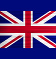 concept british flag blue wthite red cross vector image