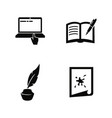 creative writing storytelling simple related icons vector image vector image