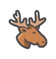 deer head simple icon cartoon vector image
