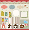 Design elements for scrapbook vector image vector image