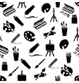 doodle arts seamless pattern vector image vector image