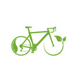ecology bike driving icon vector image