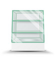 empty glass cabinet isolated on transparent vector image vector image