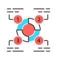 explanatory diagram color icon statistics data vector image