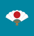 flat japan fan icon vector image vector image