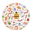 food stickers background let vector image vector image