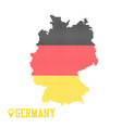 germany dotted map colorful flag nation yellow vector image