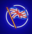 great britain english flag vector image vector image