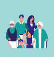 group of family members characters vector image vector image