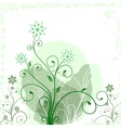 Grunge flower green vector image