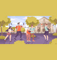 guide excursion flat composition vector image vector image